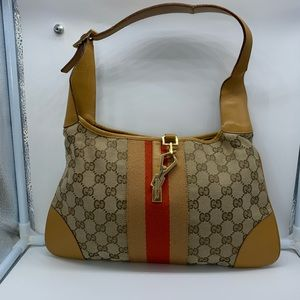 Authentic Gucci 001.4057 GG pattern shoulder bag